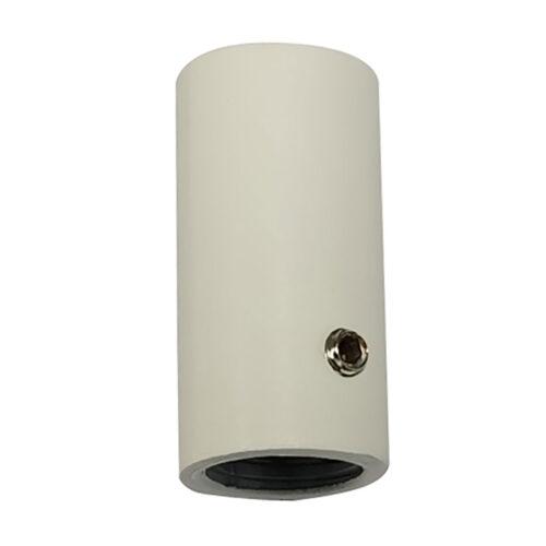Montage nippel voor spot in witte spanningrail -  Deze montage nippel voor een spot maakt onderdeel uit van de moderne railverlichting RSWebo-1 van High Light -  Dit moderne 1 fase railsysteem van Highlight  kunt u geheel zelf samenstellen -  Het systeem RSWebo-1 beschikt over verschillende lengtes spanningrail - over cilinder en retro bol spots - allerlei koppelstukken - verbinders - bochten en zelfs een adapter voor een eventuele hanglamp -  De set is geheel op maat door u samen te stellen - aan elkaar te koppelen en te voorzien van het gewenste aantal spots - maar in onze shop verkopen we ook een paar complete sets met of drie of vier spots -  Het hele systeem is leverbaar in de kleuren mat zwart en wit -  Alle items in onze webshop met code RSWebo-1 - passen bij elkaar -  De spots zijn te verschuiven - draaibaar en kantelbaar -  De aansluitvoeding zit aan het begin van de rail daar zit ook het kroonsteentje om de aansluiting te maken -  De spots binnen de serie RSWebo-1 zijn geschikt voor een GU10 LED lichtbron van maximaal 35 Watt -  De spots zijn ook dimbaar te maken met een externe wanddimmer (exclusief) -  O5116 - 00
