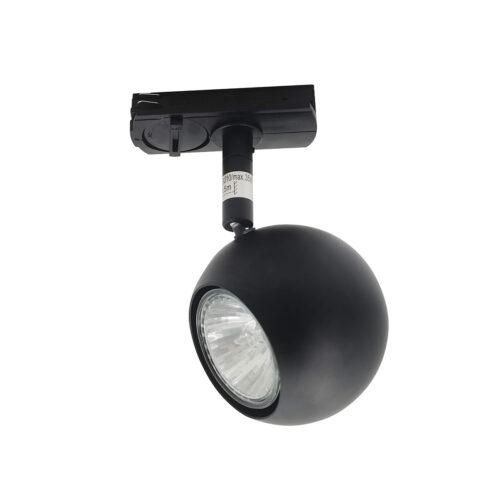 Retro bol spot inclusief adapter voor railverlichting RSWebo-1 - mat zwart - GU10 LED - HIGH LIGHT -  Deze retro bol spot is 16 cm hoog en heeft een diameter van 6 cm -  Deze spot past in het moderne 1 fase railsysteem van Highlight waar eventueel ook cilinder spots in kunnen -  En de hele serie RSWebo-1 is ook verkrijgbaar in de kleur wit -  Het railsysteem is geheel zelf samen te stellen -  U kunt namelijk koppelen aan meer rail en u kunt meer spots in het railsysteem schuiven -  In onze webshop vindt u in de categorie Railverlichting rails van 100 cm en van 150 cm - allerlei koppelstukken - verbinders en ook bochten om het systeem uit te breiden -  Zelfs een adapter om eventueel een hanglamp aan het systeem te hangen -  Alle items in onze webshop met code RSWebo-1 - passen bij elkaar -  De spots zijn te verschuiven - draaibaar en kantelbaar -  De aansluitvoeding zit aan het begin van de rail daar zit ook het kroonsteentje om de aansluiting te maken -   De spot is geschikt voor een GU10 LED lichtbron van maximaal 35 Watt -  De spots zijn ook dimbaar te maken met een externe wanddimmer (exclusief) -  S7016 - 01