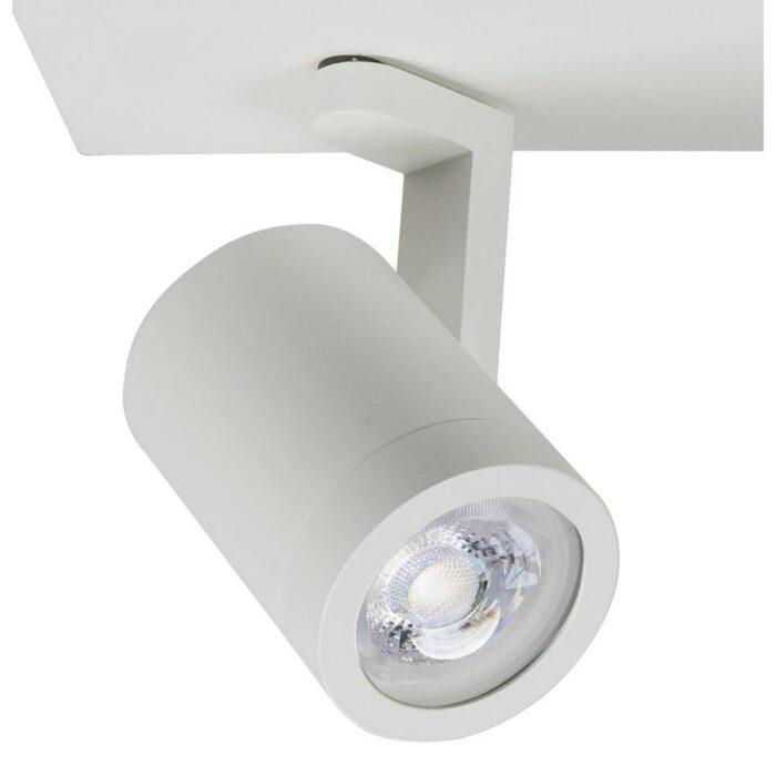 Halo spot 2 X GU10 LED balk Mat Wit zonder lampen - Serie Halo GU10 LED - High Light - S714800