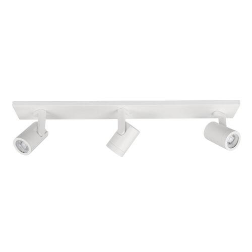 Plafondlamp - plafondspots - Halo spot 3 X GU10 LED balk Mat Wit zonder lampen - Serie Halo GU10 LED - Spots - High Light - S714900