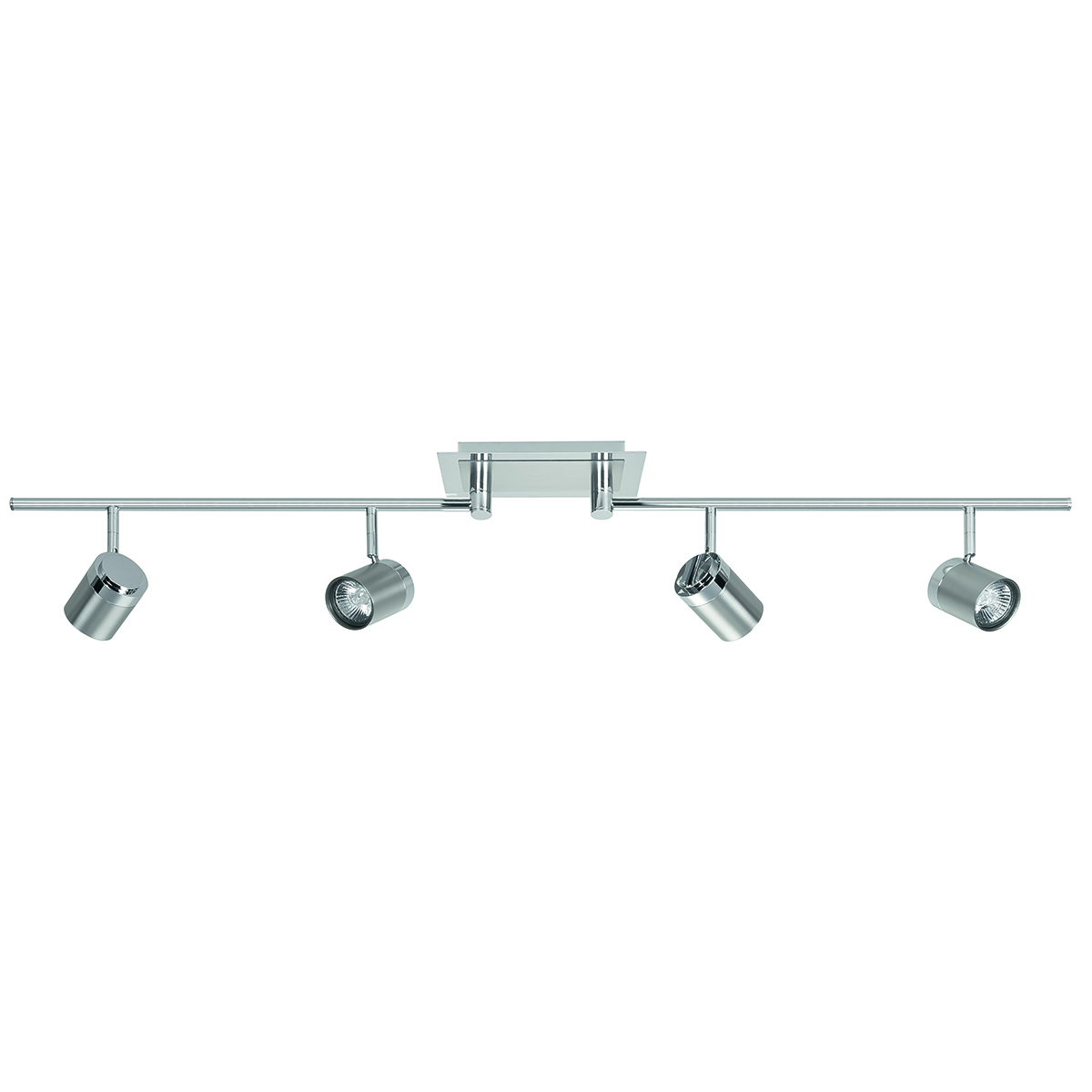 Athena spot 4-lichts - plafondlamp met vier spots - GU10 mobiel  Nikkel-Mat + Chroom zonder lampen - Serie Athena - Spots - High Light - S738930