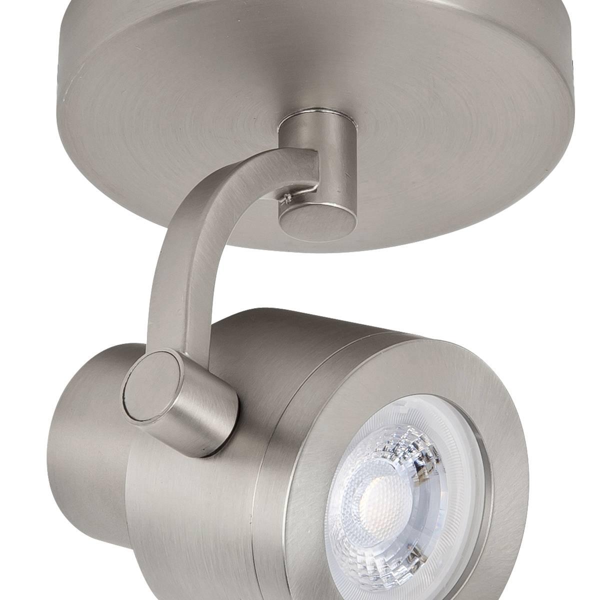 Alto Spot 1-lichts - opbouwspot voor plafond en wand - GU10 Rond Mat Nikkel zonder lamp - Serie Alto - Opbouwspot - Plafondspot - Wandspot - High Light - S739430