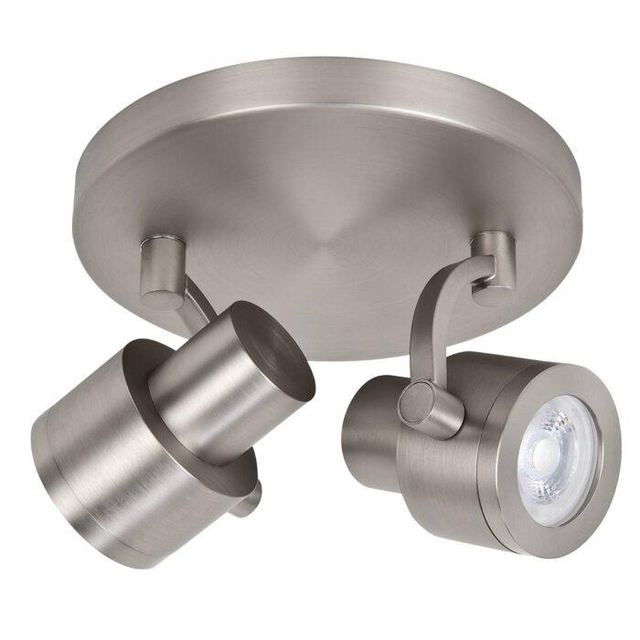 Alto Spot 2-lichts - plafondlamp met twee spots - GU10 Rond Mat Nikkel zonder lampen - Serie Alto - Spots - High Light - S739530