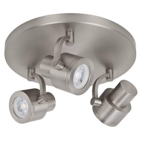 Alto Spot 3-lichts - plafondlamp met drie spots - GU10 Rond Mat Nikkel zonder lampen - Serie Alto - Spots - High Light - S739630