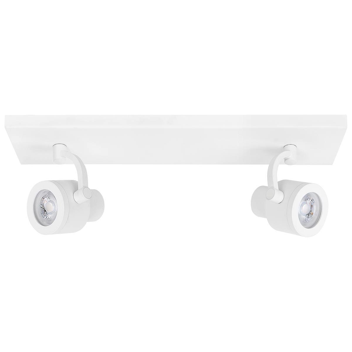 Alto Spot 2-lichts - plafondlamp met twee spots - GU10 Balk Mat Wit zonder lampen - Serie Alto - Spots - High Light - S739700
