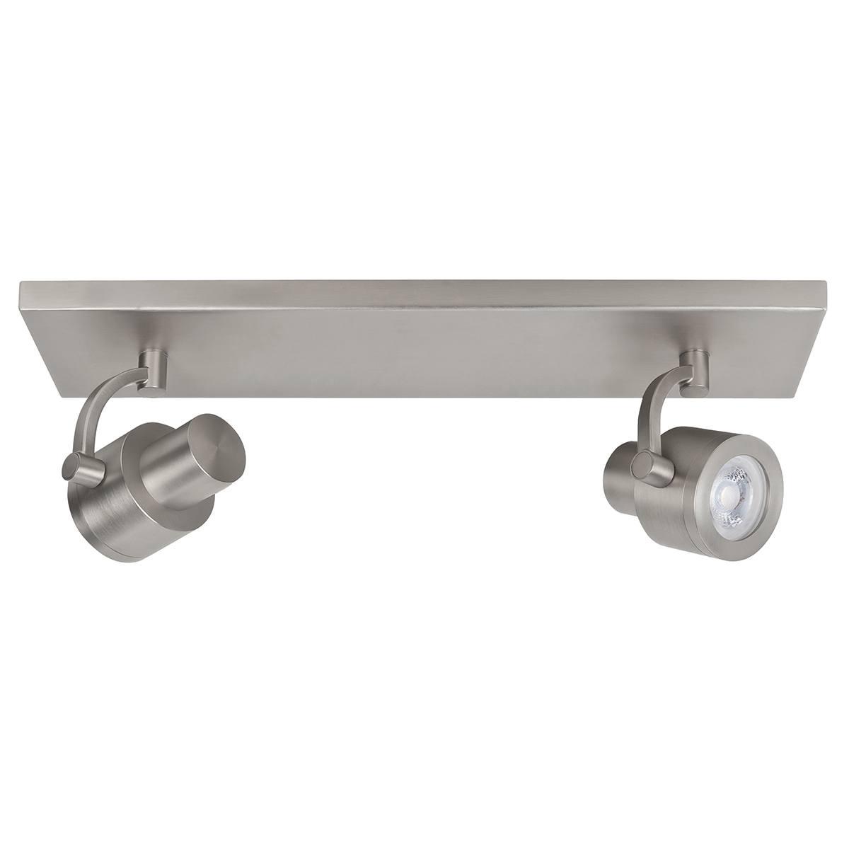Alto Spot 2-lichts - plafondlamp met twee spots - GU10 Balk Mat Nikkel zonder lampen - Serie Alto - Spots - High Light - S739730