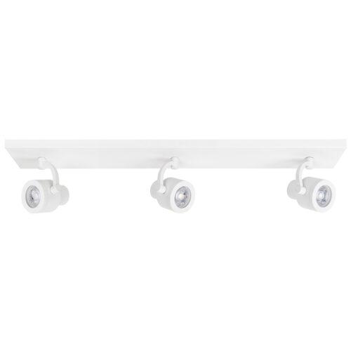 Alto Spot 3-lichts - plafondlamp met drie spots - GU10 Balk Mat Wit zonder lampen - Serie Alto - Spots - High Light - S739800