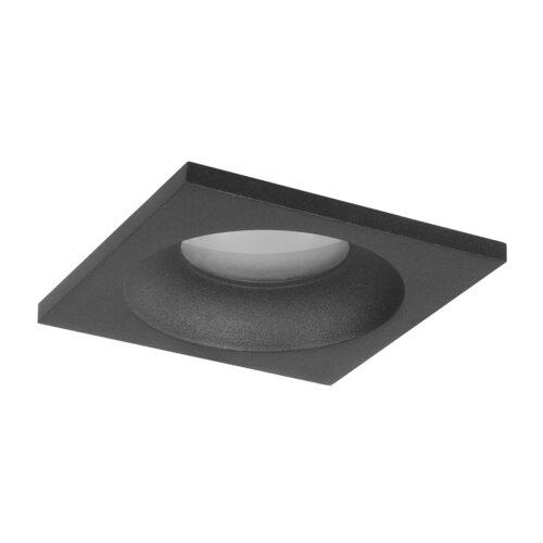 Inbouwspot badkamer (zone 2 en 3) en buiten (spatwaterdicht) - 51mm  IP44 Vierkant Zwart - Serie Inbouwspot 51mm - Spots - High Light - S782601