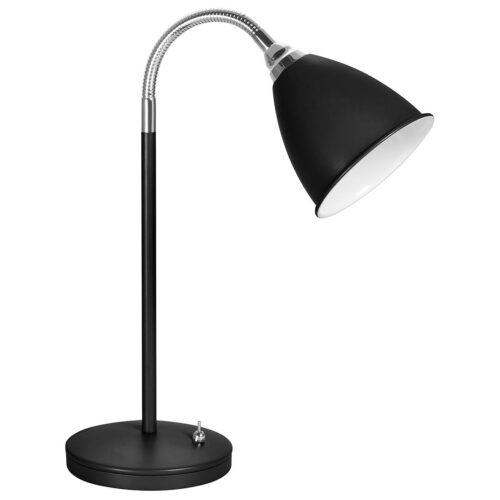 Bureaulamp - leeslamp - bedlamp - tafellamp Campus E14 Mat Zwart - Serie Campus - Tafellamp - High Light - T105501