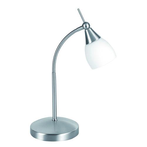 Bureaulamp - leeslamp - bedlamp - tafellamp Touchy 33W ECO G9 Touchdimmer Nikkel-Mat - Serie Touchy - Tafellamp - High Light - T126830