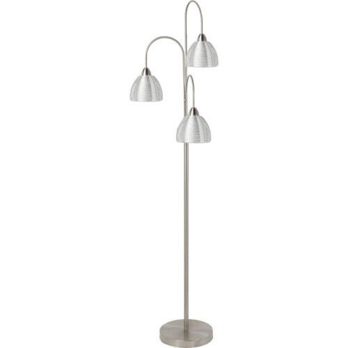 Vloerlamp Whires 3-lichts Nikkel Mat + kapjes Alu - Serie Whires - High Light - V424631
