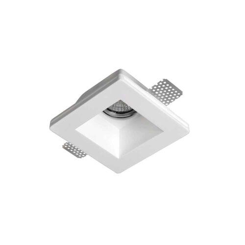 "Gips inbouwspot - DL - gips vierkant ""Cygan"" 120x120x57mm exclusief GU10 - ART DELIGHT - DL 9129 WI"