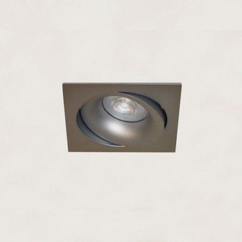 "Inbouwspot - DL - grijs 1-lichts vierkant ""Alice"" kantelbaar GU10 35W IP20 - ART DELIGHT - DL 921 GR"