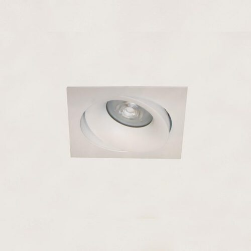 """Inbouwspot - DL - wit 1-lichts vierkant """"Alice"""" kantelbaar GU10 35W IP20 - ART DELIGHT - DL 921 WI"""