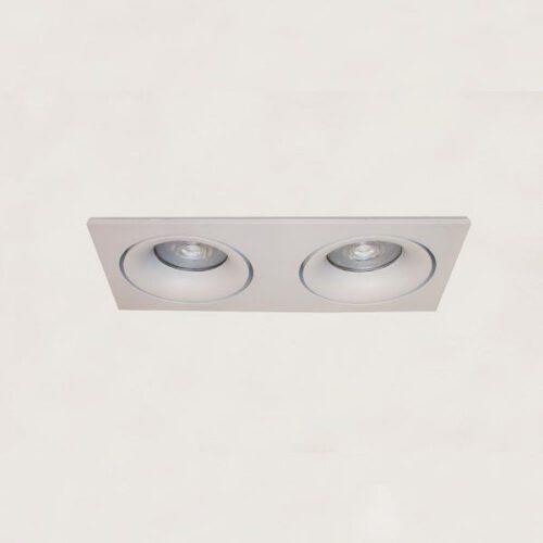 "Inbouwspot - DL - 2-lichts wit rechthoek ""Alice"" kantelbaar 2x GU10 35W IP20 - ART DELIGHT - DL 922 WI"