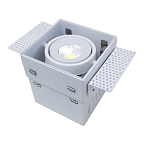 Trimless inbouwspot - DL - wit 1-lichts Trofa - vierkant - 97x97x100mm GU10 - ART DELIGHT - DL 9991 WI