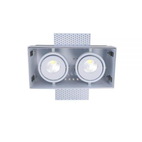 Trimless inbouwspot - DL - wit 2-lichts Trofa - rechthoek - 197x97x100mm - GU10 - ART DELIGHT - DL 9992 WI