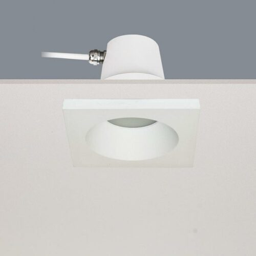 Inbouwspot voor badkamer en buiten - DL - wit 1-lichts inbouwspot behuizing Ø9cm IP65 exclusief GU10 - ART DELIGHT - DL BADOS WI