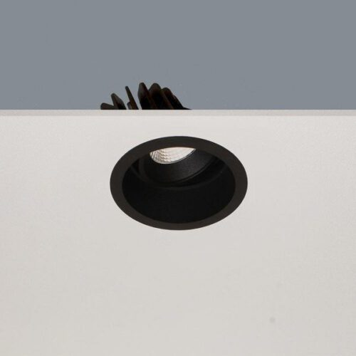 "Inbouwspot zwart ""RIBS inbouwspot"" rond LED 10W 1100lm 2700K 36º zonder driver - ART DELIGHT - DL R6960 BL"
