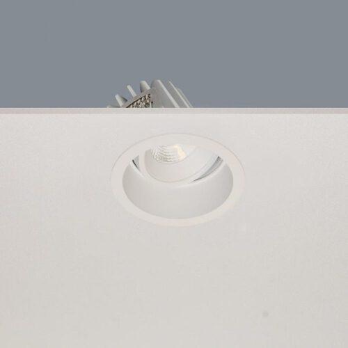 """Inbouwspot wit """"RIBS inbouwspot"""" rond LED 10W 1100lm 2700K 36º zonder driver - ART DELIGHT - DL R6960 WH"""