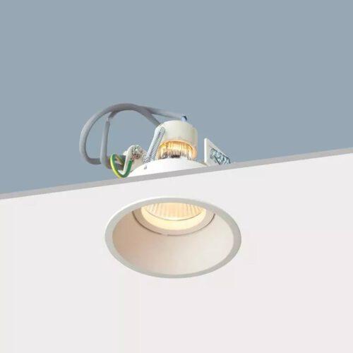"Inbouwspot - verzonken plafondspot - 8 -5 cm - wit rond verdiept ""Candice"" GU10 - max 35W - klasse 2 - ART DELIGHT - IBS MR16DH WI"