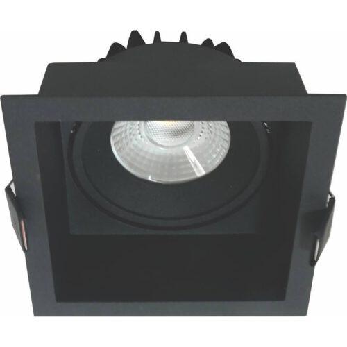 """Badkamerspot of Verandaspot - IP44 inbouwspot zwart """"Vibs"""" vierkant LED 10W 900lm 2700K 36º . ART DELIGHT. LED inbouwspot voor de badkamer en op beschutte plaatsen buiten - zoals onder een veranda - afdak of overkapping. De spot is voorzien van geïntegreerd LED lichtbron - LED 10W 2700K 900lm. Deze inbouwspot is dimbaar. De spot zit verzonken in het armatuur en is kantelbaar.  Deze spot heeft een inbouwdiepte van 85 mm. Deze badkamerspot of verandaspot is exclusief de benodigde driver. Deze driver kunt u direct in onze webshop erbij bestellen: Driver Tridonic 10w Dimbaar - artikelnummer 87500273. U heeft 1 driver per spot nodig. - IBS R6215B"""