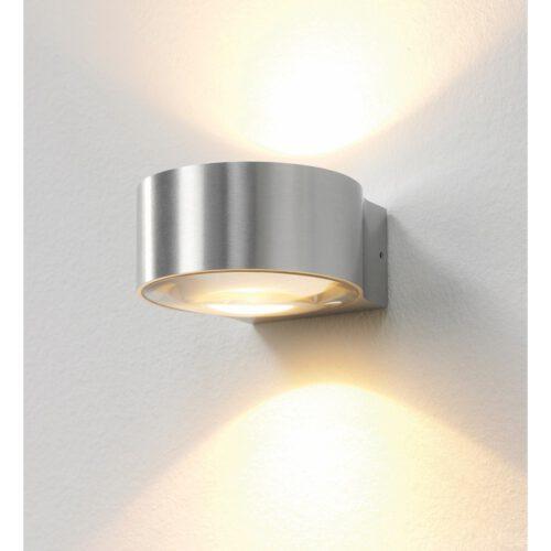 "Badkamer wandlamp - buitenlamp - muurlamp - aluminium ""Hudson"" Ø11cm IP54 dimbaar LED 2x4W 2700K 2x360lm - ART DELIGHT - WL HUDSON ALU"