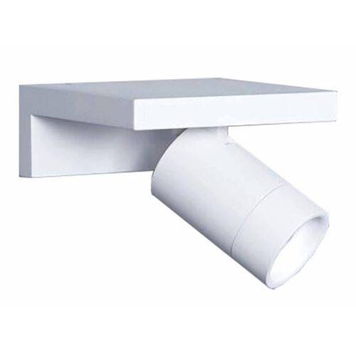 """Wandlamp wit - witte wandspot met schapje - 1-lichts """"Reck"""" LED. Geïntegreerd LED AC 6W 2700K 540lm. Afmeting 15x15x6 cm. Materiaal aluminium. ART DELIGHT. De spot is draaibaar en kantelbaar. Een ideaal leeslampje. Deze witte wandlamp uniek door de plank waarop u iets moois kunt zetten.  - WLRECKWI"""