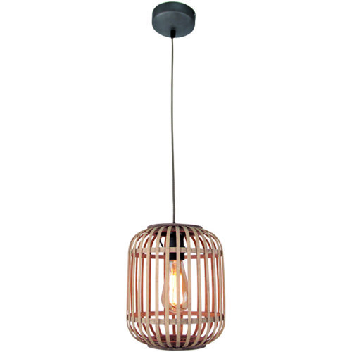 Hanglamp 'Malacca' 1-lichts Mat Zwart FREELIGHT - H 5290 Z