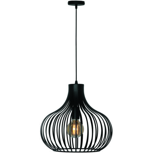 Hanglamp 'Aglio' 38cm Zwart FREELIGHT - H 7842 Z