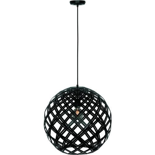 Hanglamp 'Emma' Bol 50cm Zwart FREELIGHT - H 9550 Z
