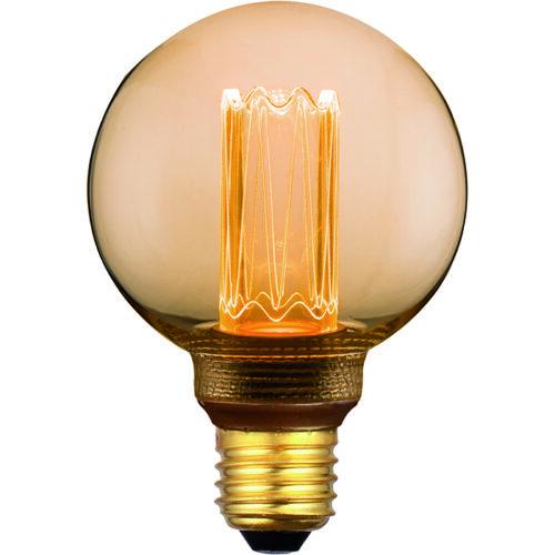 5W LED bol gold 8cm E27 1800K 3 standen FREELIGHT - L503G