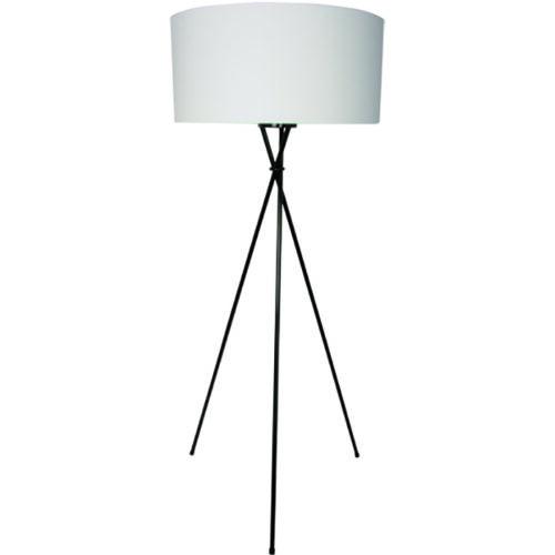 Vloerlamp 'Treppiedi' hoogte 160cm Mat Zwart Excl. Kap FREELIGHT - S 4039 Z