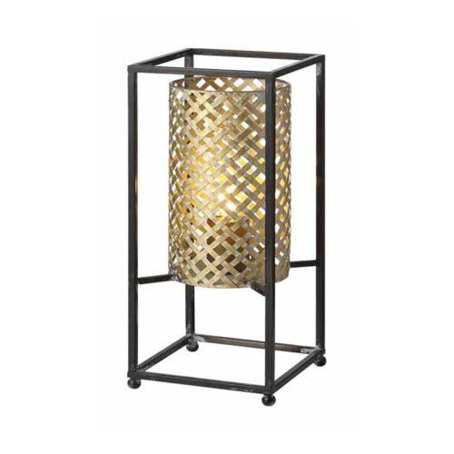 Tafellamp Petrolio zwart en goud hoogte 37cm 1-lichts FREELIGHT - T9237G