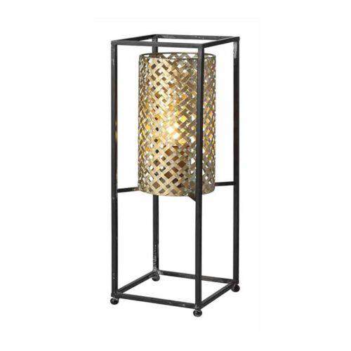 Tafellamp Petrolio zwart en goud hoogte 47cm 1-lichts FREELIGHT - T9247G