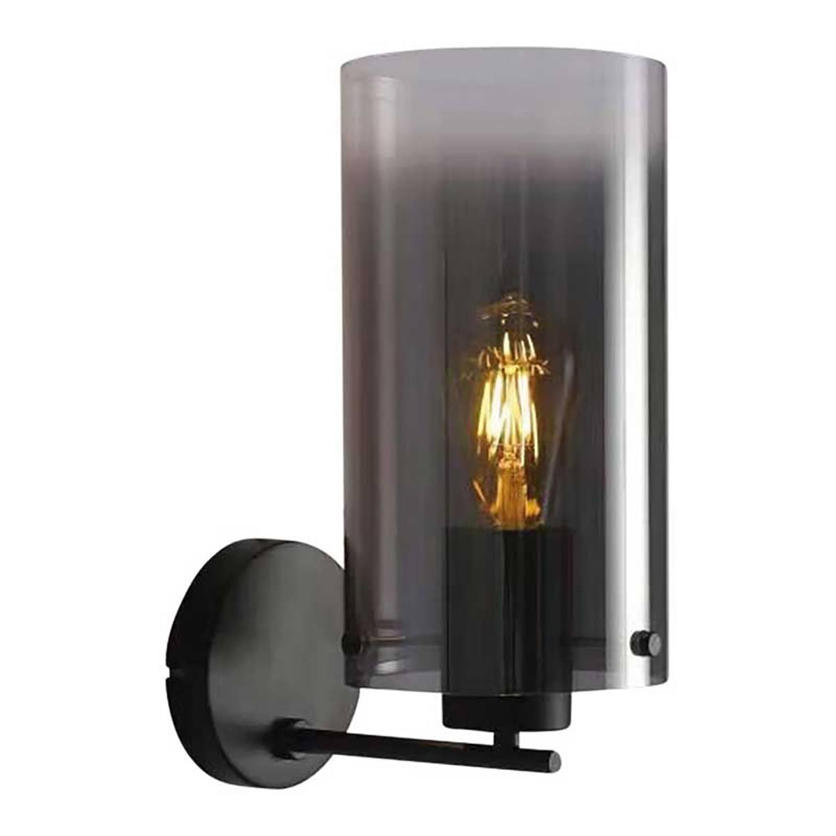 Wandlamp Ventotto gerookt glas 1-lichts FREELIGHT - W5828SK