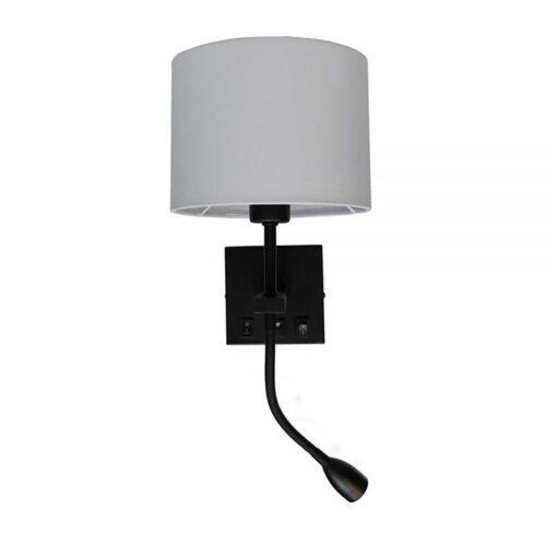 "Wandlamp zwart 3W flex ""Quad"" USB exclusief kap  - ART DELIGHT"