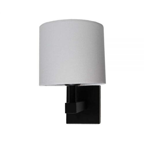 E27 zwart bedlamp exclusief off-white kap & schakelaar - ART DELIGHT