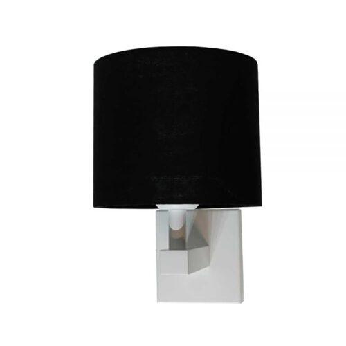 E27 witbedlamp exclusief off-white kap & schakelaar - ART DELIGHT