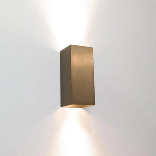 "Wandlamp licht brons 2-lichts ""Dante"" up/down 6"