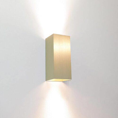 """Wandlamp mat goud 2-lichts """"Dante"""" up/down 6"""