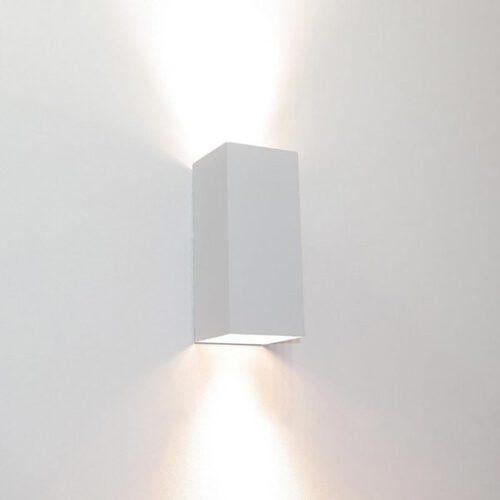 "Wandlamp wit 2-lichts ""Dante"" up/down 6"